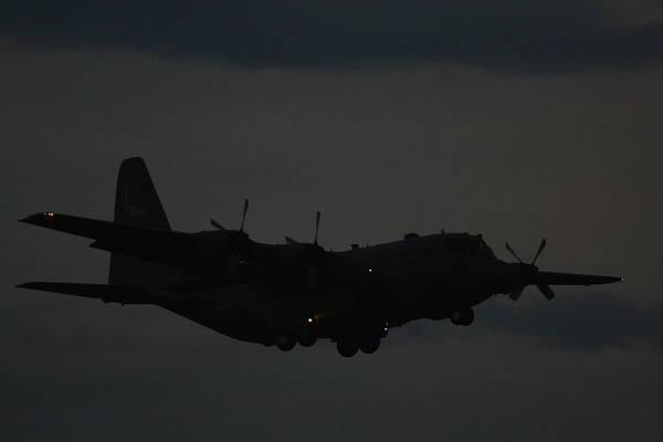C130 Hercules Night Flight Art Print