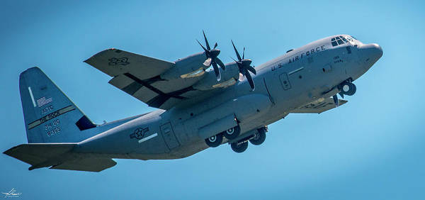 Photograph - C130 In The Pattern by Philip Rispin