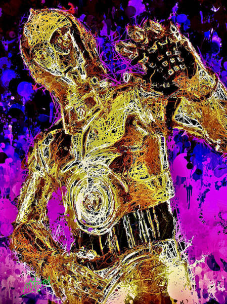 Mixed Media -  C-3po by Matra Art