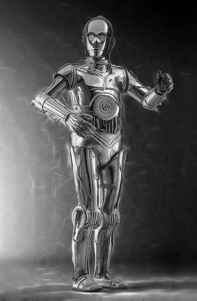 R2-d2 Digital Art - C3po One Of The Rat Pack by Scott Campbell
