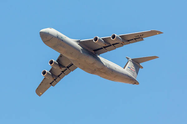 Photograph - C5 Galaxy In Flight by SR Green