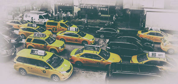 Yellow Taxi Photograph - Cab City by Martin Newman