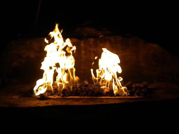 Photograph - Cabana Fire  by Bridgette Gomes