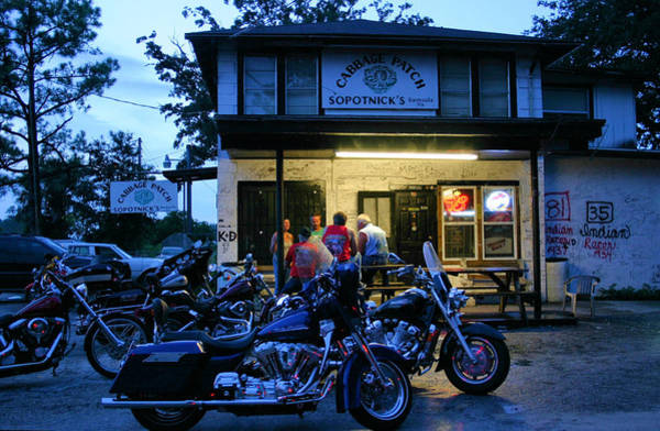 Biker Photograph - Cabbage Patch Bikers Bar by Kristin Elmquist