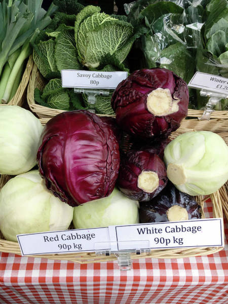 Cabbage Photograph - Cabbages In The Market by Tom Gowanlock