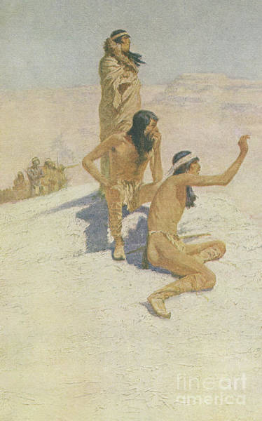 Wall Art - Drawing - Cabeza De Vaca In The Desert by Frederic Remington