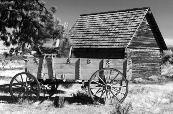 Wall Art - Photograph - Cabin And Wagon by David Lee Thompson