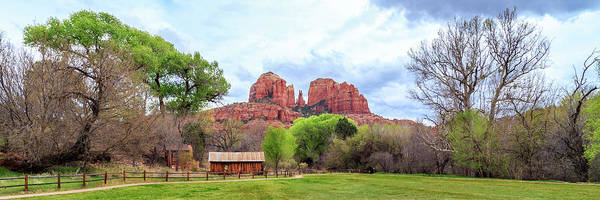Photograph - Cabin At Cathedral Rock Panorama by James Eddy
