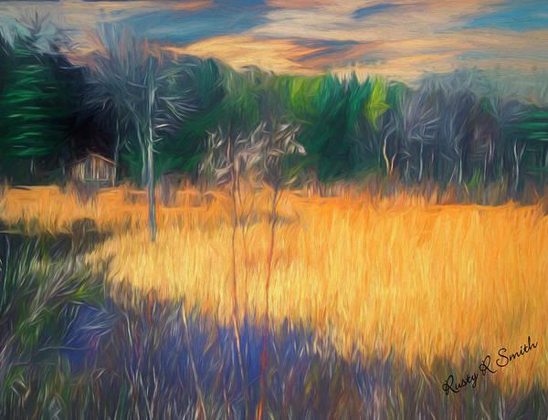 Digital Art - Cabin In A Marsh by Rusty R Smith