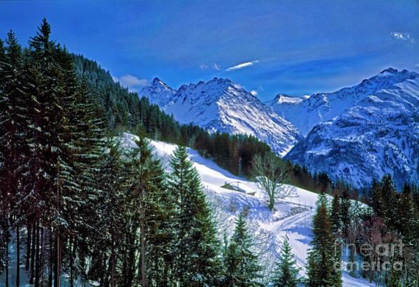 Photograph - Cabin In The Alps Switzerland, Ski by Tom Jelen