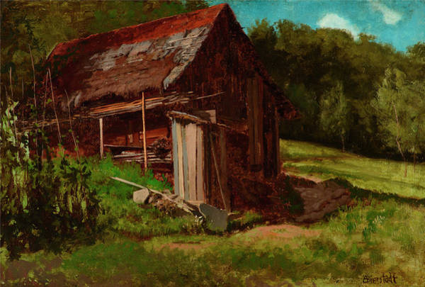 Cabin In The Woods Wall Art - Painting - Cabin In The Foothills by Albert Bierstadt
