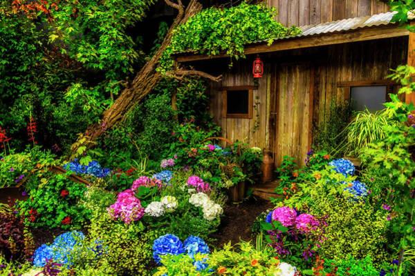 Wall Art - Photograph - Cabin In The Garden by Garry Gay