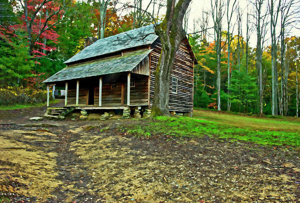 Photograph - Cabin In The Smokies by Gordon Ripley