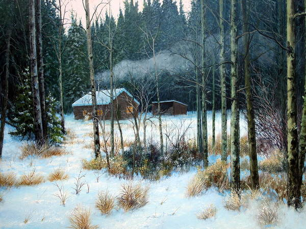 Painting - Cabin In The Woods by E Colin Williams ARCA