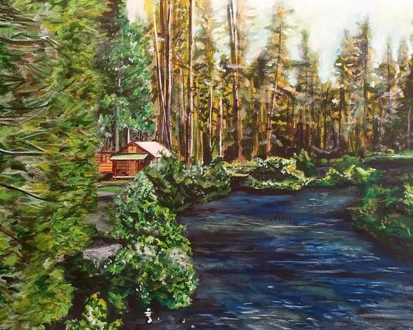 Painting - Cabin by Joel Tesch