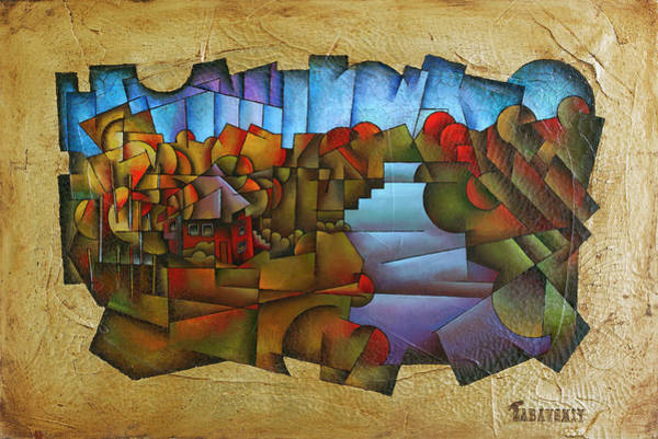 Generative Painting - Cabin Near Shenandoah River by Vlad Zabavskiy