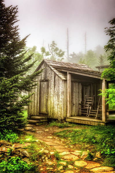 Photograph - Cabin Nestled In The Forest by Debra and Dave Vanderlaan