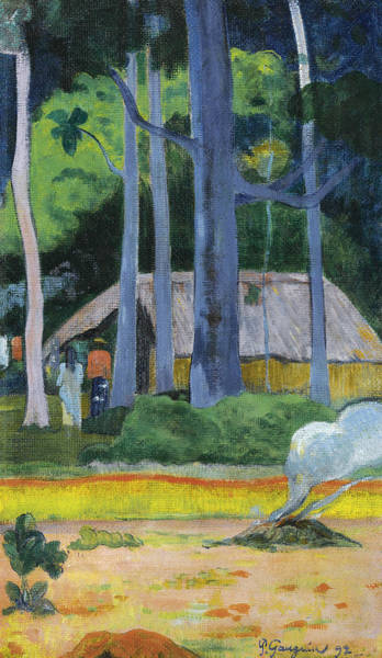 Painting - Cabin Under The Trees by Paul Gauguin
