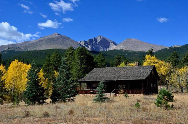 Photograph - Cabin With A View Of Long's Peak by Tranquil Light Photography