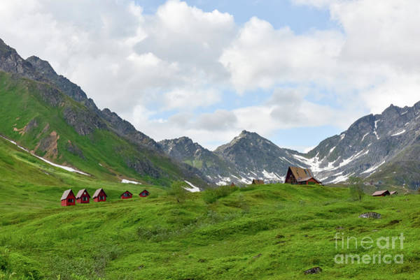 Middle Of Nowhere Photograph - Cabins In The Alaskan Mountains by Paul Quinn