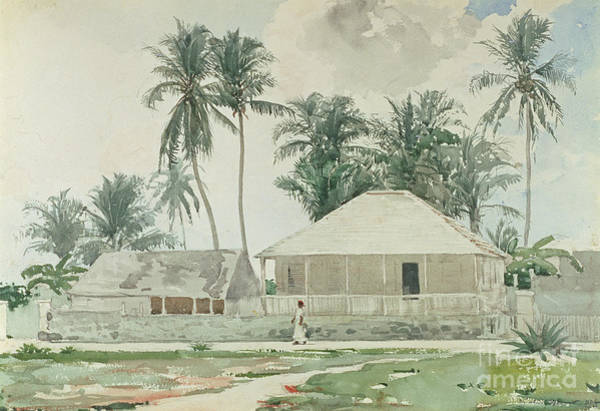 1885 Wall Art - Painting - Cabins, Nassau by Winslow Homer