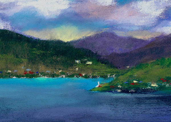 Adirondack Mountains Painting - Cabins On The Lake by David Patterson
