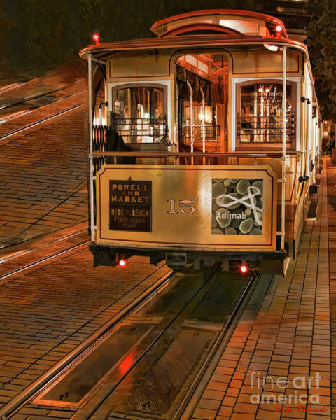 Photograph - Cable Car At Dusk by Blake Richards