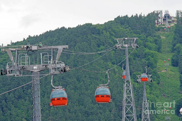 Ropeway Photograph - Cable Car Equipment by Cosmin-Constantin Sava
