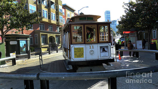 Photograph - Cable Car Turnaround by Steven Spak