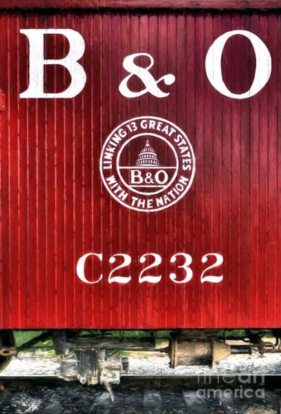 Red Caboose Photograph - Caboose # C2232 by Mel Steinhauer