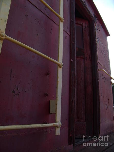 Red Caboose Photograph - Caboose Door by The Stone Age