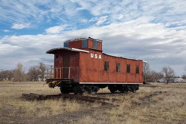 Wall Art - Photograph - Caboose Hugo Union Pacific Railroad Roundhouse by Bridget Calip