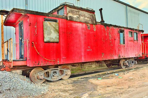 Photograph - Caboose by Lisa Wooten