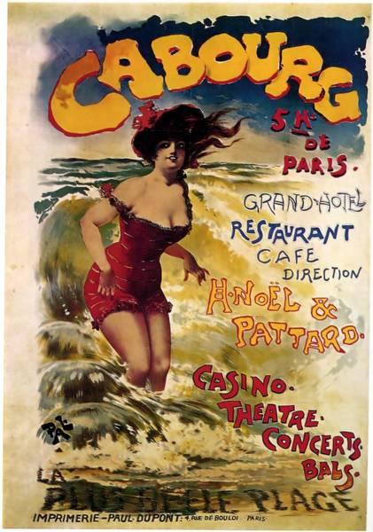 Wall Art - Mixed Media - Cabourg - Paris - Grand Hotel - Vintage Restaurant Advertising Poster by Studio Grafiikka