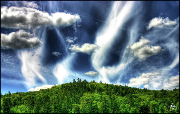 Photograph - Cacophony Of Clouds Over Hobart Hill by Wayne King