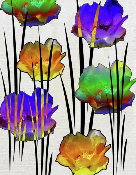 Wild Poppies Digital Art - Cactus Bloom by Linda Dunn