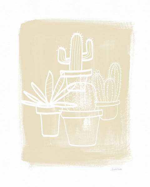 Wall Art - Painting - Cactus In Pots- Art By Linda Woods by Linda Woods