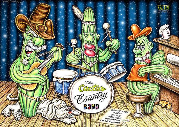 Wall Art - Digital Art - Cactus Jam by Cristophers Dream Artistry