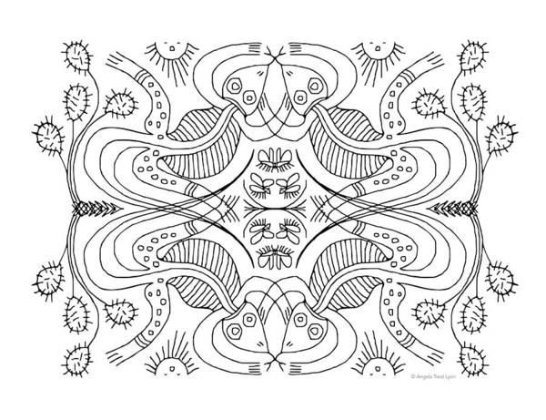 Drawing - Cactus Liz by Angela Treat Lyon