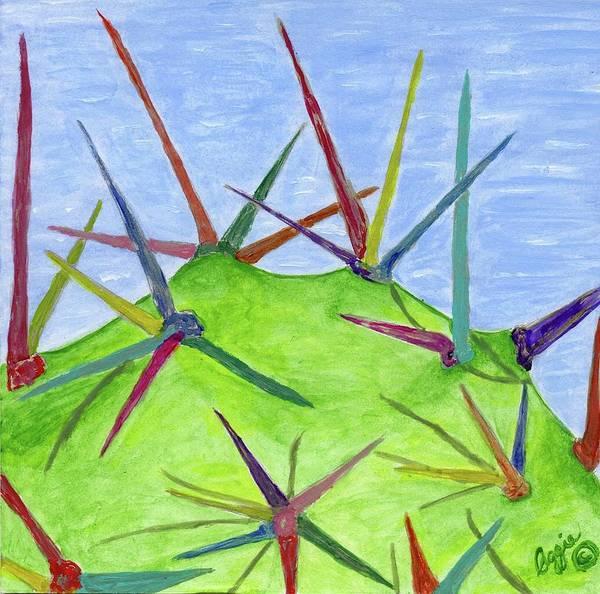 Painting - Cactus Rainbow by Stephanie Agliano