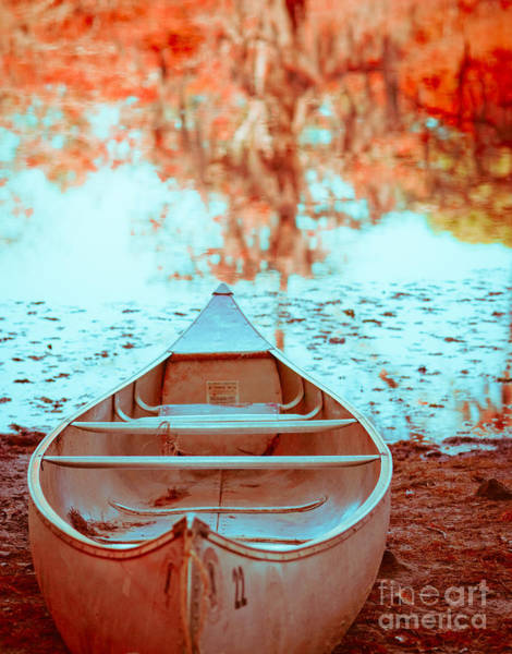 Camping Wall Art - Photograph - Caddo Canoe In Fall by Sonja Quintero