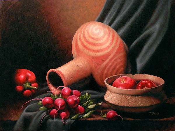 Wall Art - Painting - Caddo Jar - Red Study by Timothy Jones