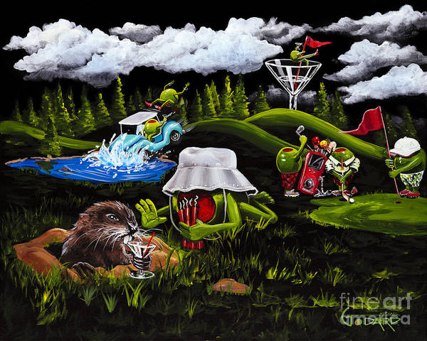 Golf Painting - Caddy Shack by Michael Godard