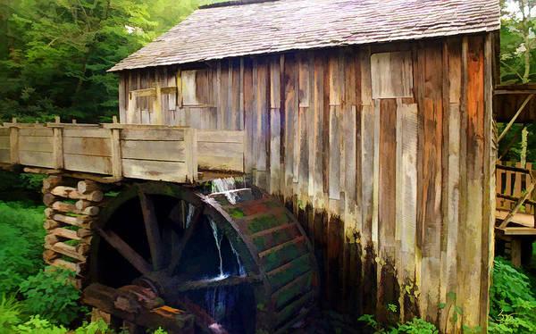 Photograph - Cade Cove Mill by Sam Davis Johnson