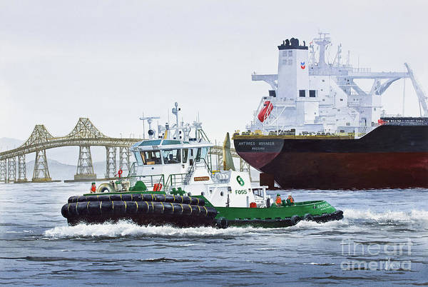 Wall Art - Painting - Caden Foss Tanker Assist by James Williamson