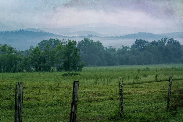 Photograph - Cades Cove Fog Textured by Jemmy Archer