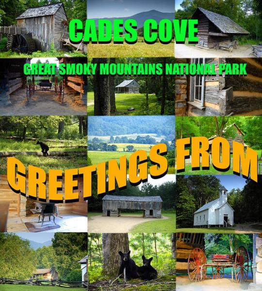Wall Art - Photograph - Cades Cove Greetings Postcard by David Lee Thompson