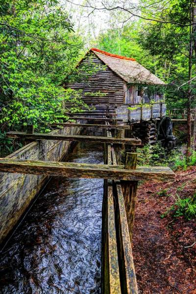 Photograph - Cades Cove Grist Mill In The Great Smoky Mountains National Park  by Carol Montoya