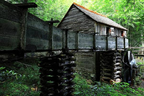 Photograph - Cades Cove Grist Mill In The Great Smoky Mountains National Park II by Carol Montoya