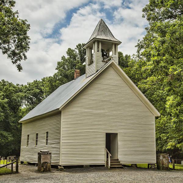 Cades Cove Photograph - Cades Cove Primitive Baptist Church by Stephen Stookey